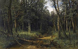 The Dark Wood, 1876 von Ivan Shishkin | Gemälde-Reproduktion