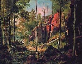 View of Valaam Island (Locality Kukk), c.1859/60 von Ivan Shishkin | Gemälde-Reproduktion