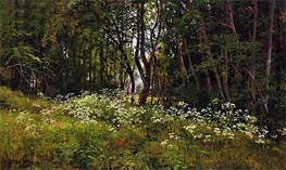 Flowers at the Forest Edge, 1893 von Ivan Shishkin | Gemälde-Reproduktion