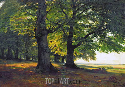 The Teutoburg Forest, 1865 | Ivan Shishkin| Painting Reproduction