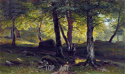 Grove, 1865 | Ivan Shishkin| Painting Reproduction