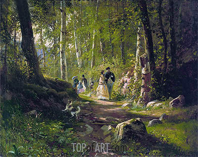 A Walk in the Forest, 1869 | Ivan Shishkin | Gemälde Reproduktion