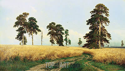 Rye, 1878 | Ivan Shishkin| Painting Reproduction