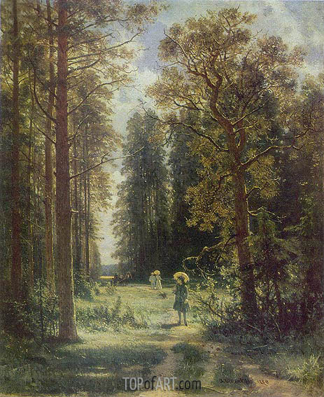 Forest Walk, 1880 | Ivan Shishkin | Painting Reproduction