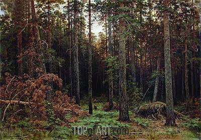 Pine Forest, 1885 | Ivan Shishkin | Gemälde Reproduktion