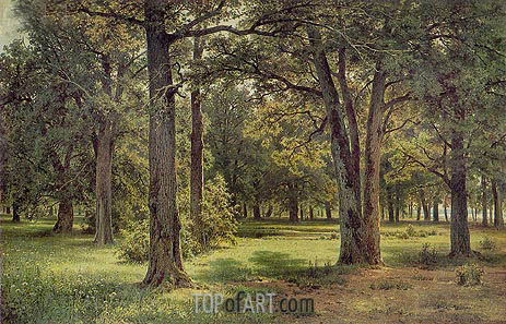 Peter The Great's Oak Grove in Sestroretsk, 1886 | Ivan Shishkin | Gemälde Reproduktion