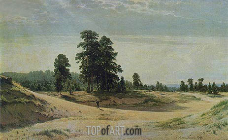 The Sands, 1887 | Ivan Shishkin | Gemälde Reproduktion