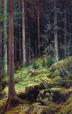 The Thicket, 1881 | Ivan Shishkin | Painting Reproduction