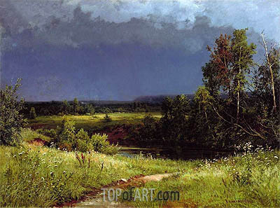 Gathering Storm, 1884 | Ivan Shishkin | Painting Reproduction