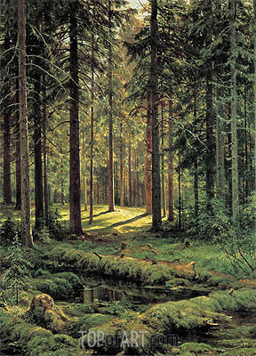 Pine Forest, Sunny Day, 1895 | Ivan Shishkin | Gemälde Reproduktion