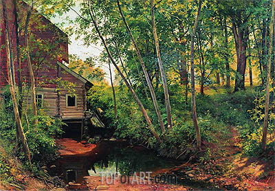 A Mill in the Forest near Preobrajenskaya Railway, 1897 | Ivan Shishkin | Painting Reproduction