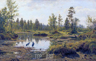 The Polesye Moorlands, 1890 | Ivan Shishkin | Painting Reproduction