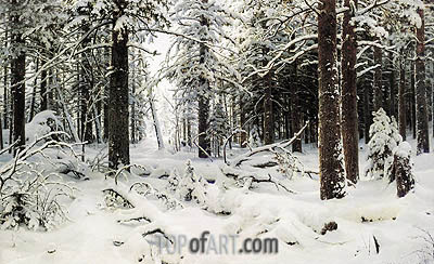 Winter, 1890 | Ivan Shishkin | Painting Reproduction