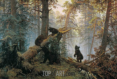 Ivan Shishkin | Morning in a Pine Forest, 1889