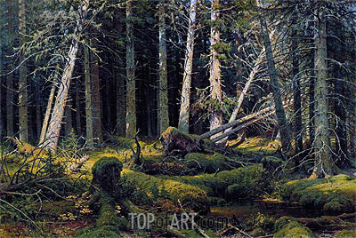 Trees Felled by the Wind (Vologda Woods), 1888 | Ivan Shishkin | Gemälde Reproduktion