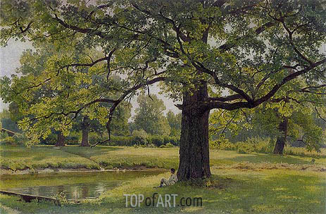 Oak Trees in Old Peterhof, 1891 | Ivan Shishkin | Gemälde Reproduktion