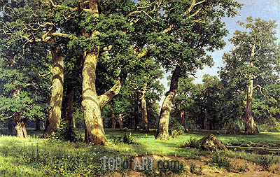 Oak Grove, 1887 | Ivan Shishkin | Painting Reproduction