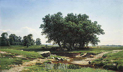 Oaks, 1886 | Ivan Shishkin| Painting Reproduction
