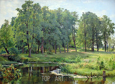 In the Park, 1897 | Ivan Shishkin| Painting Reproduction