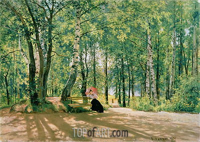 At the Summer Cottage, 1894 | Ivan Shishkin | Gemälde Reproduktion