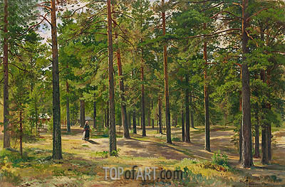 In the Pine Forest, 1889 | Ivan Shishkin| Gemälde Reproduktion