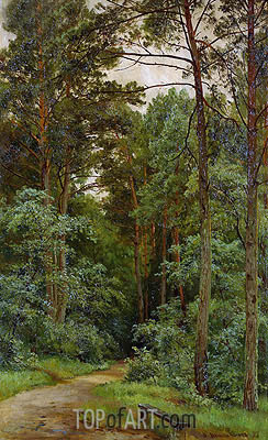 In the Woods, 1893 | Ivan Shishkin | Painting Reproduction