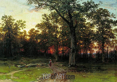 Ivan Shishkin | Wood in the Evening, 1868/69