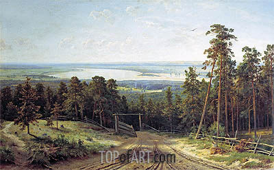 Kama near Yelabuga, 1895 | Ivan Shishkin| Painting Reproduction