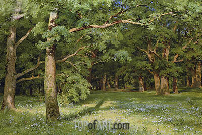 The Forest Clearing, 1896 | Ivan Shishkin| Painting Reproduction