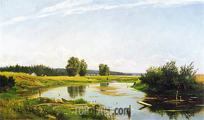 Landscape with a Lake, 1886 | Ivan Shishkin | Painting Reproduction