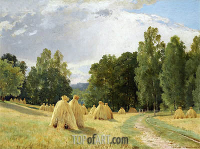 Haystacks, Preobrazhenskoe, 1890 | Ivan Shishkin| Painting Reproduction