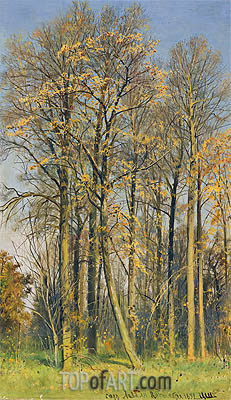 Ivan Shishkin | Rowan Trees in Autumn, 1892