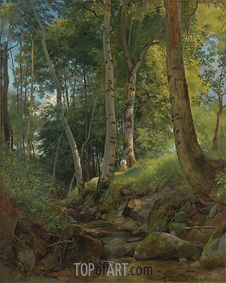 The Brook, undated | Ivan Shishkin| Painting Reproduction