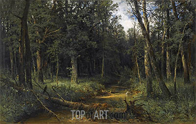 The Dark Wood, 1876 | Ivan Shishkin | Gemälde Reproduktion