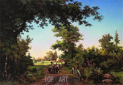 Ivan Shishkin | View from the Vicinity of St. Petersburg, 1856