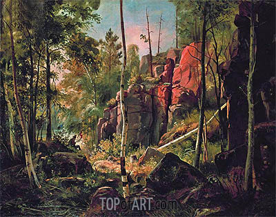 View of Valaam Island (Locality Kukk), c.1859/60 | Ivan Shishkin| Painting Reproduction