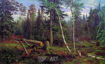 Logging, 1867 | Ivan Shishkin | Painting Reproduction