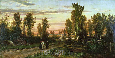 Evening, 1871 | Ivan Shishkin | Painting Reproduction