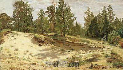 Ivan Shishkin | Young Pines on the Sandy Cliff, 1890