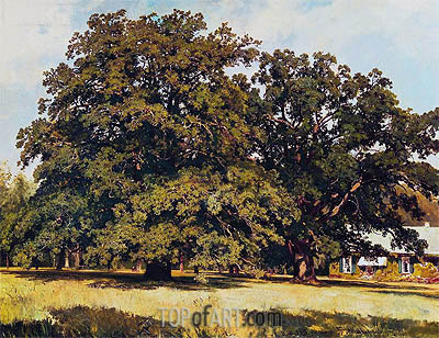 Mordvinovskie Oaks, 1891 | Ivan Shishkin| Painting Reproduction