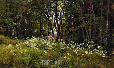 Ivan Shishkin | Flowers at the Forest Edge, 1893