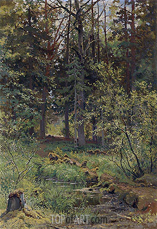 Forest Landscape, 1889 | Ivan Shishkin | Painting Reproduction
