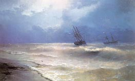 White-Caps on the Coast of the Crimea, 1892 by Aivazovsky | Painting Reproduction
