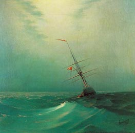 Night. A Blue Wave | Aivazovsky | Gemälde Reproduktion