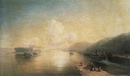 The Volga at Zhigulev Hills | Aivazovsky | Gemälde Reproduktion