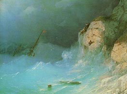 Shipwreck, 1864 by Aivazovsky | Painting Reproduction