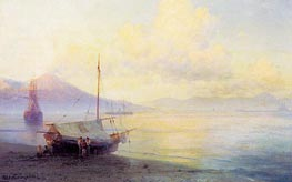 The Neapolitan Gulf in the Early Morning, 1893 by Aivazovsky | Painting Reproduction
