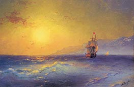 At the Crimean Coast, c.1890 by Aivazovsky | Painting Reproduction