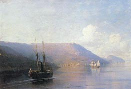 The Crimean Coast, 1886 by Aivazovsky | Painting Reproduction