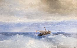 Caucasus Mountains from the Sea, 1899 by Aivazovsky | Painting Reproduction